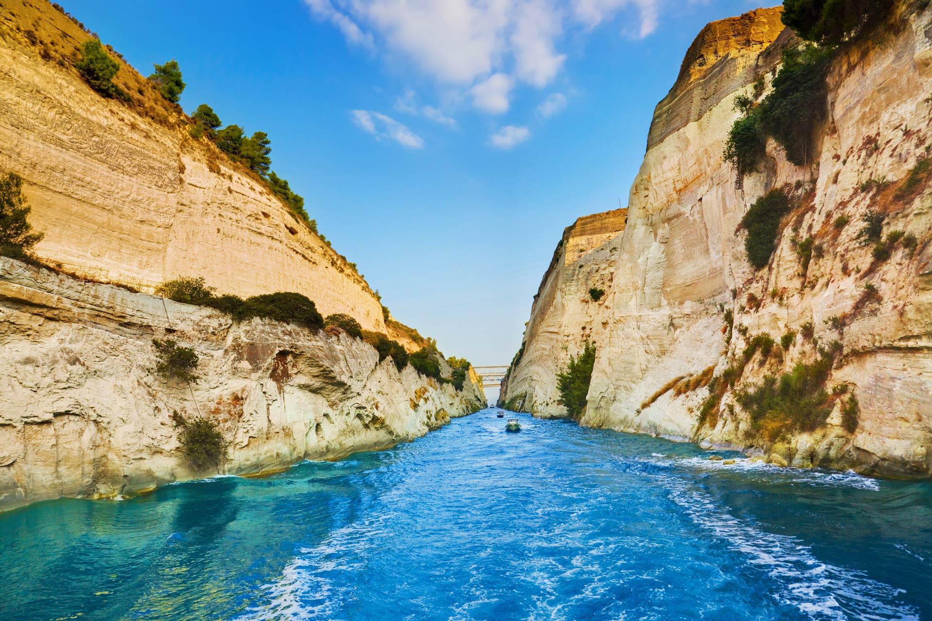 Corinto, Canal de Corinto, Corinth Channel, crucero por Peloponeso