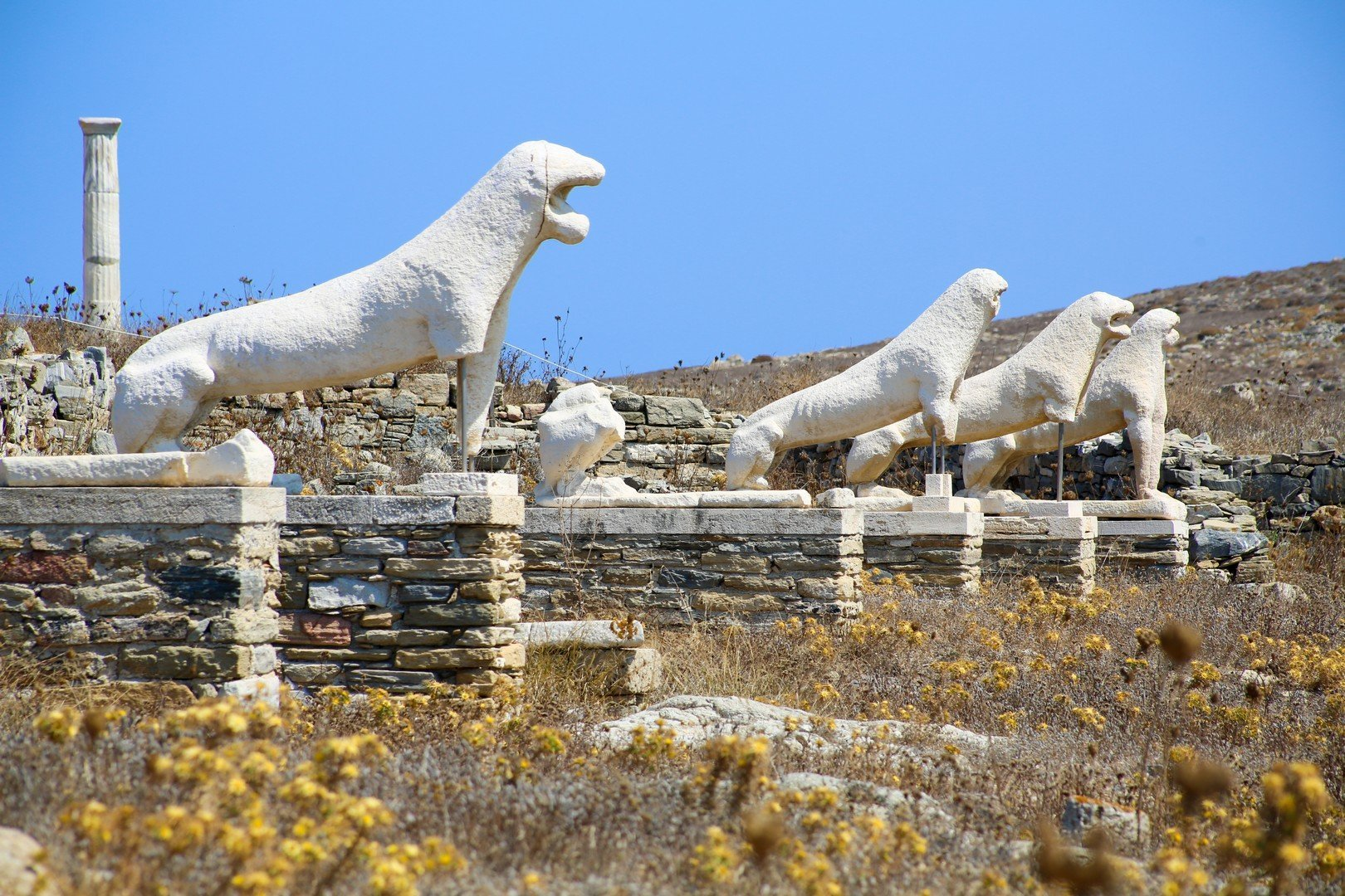 The island of Delos: an important archaeological site in Greece