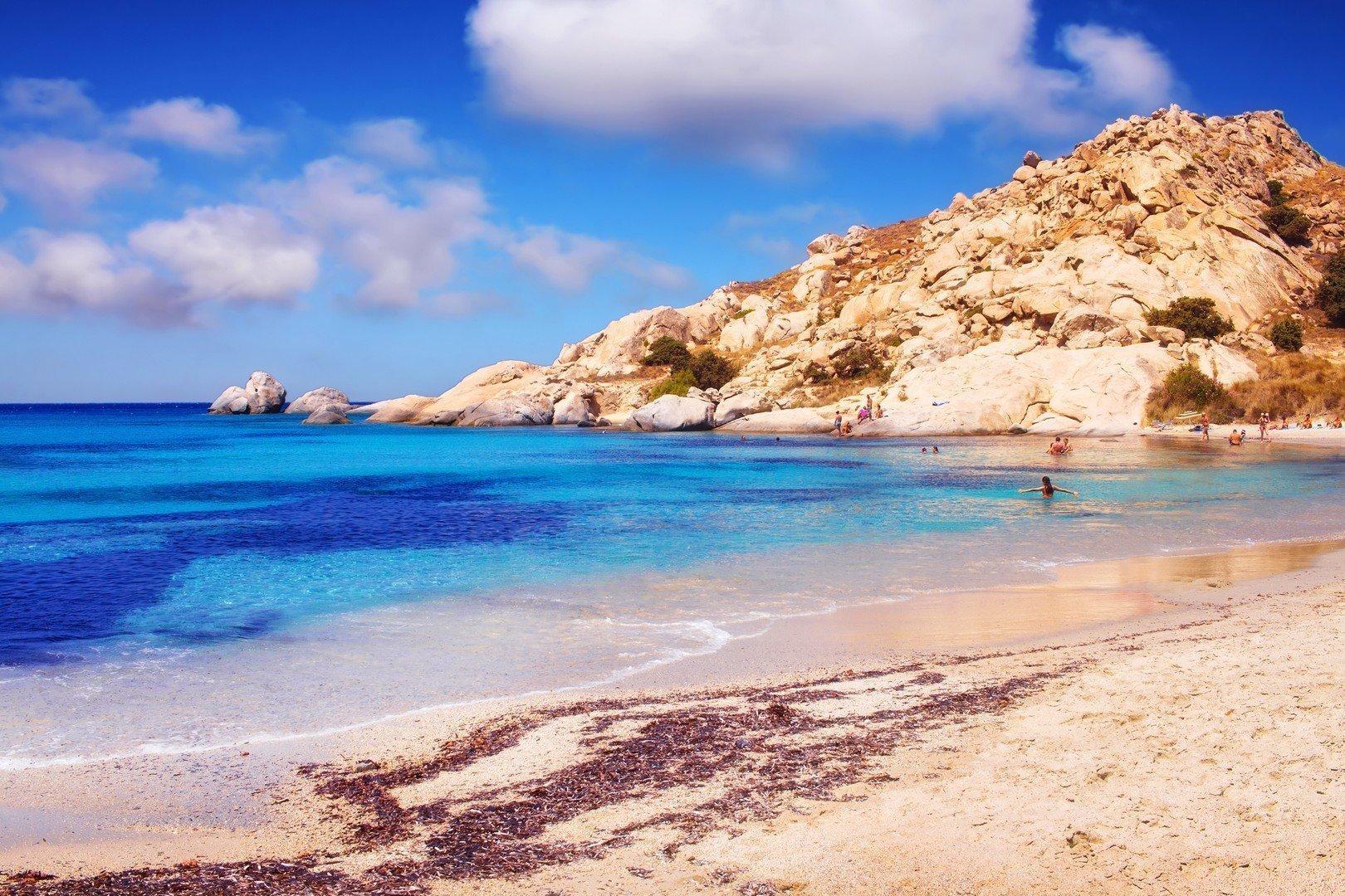 Mikri Vigla beach on Naxos island, Greece shutterstock_508430344