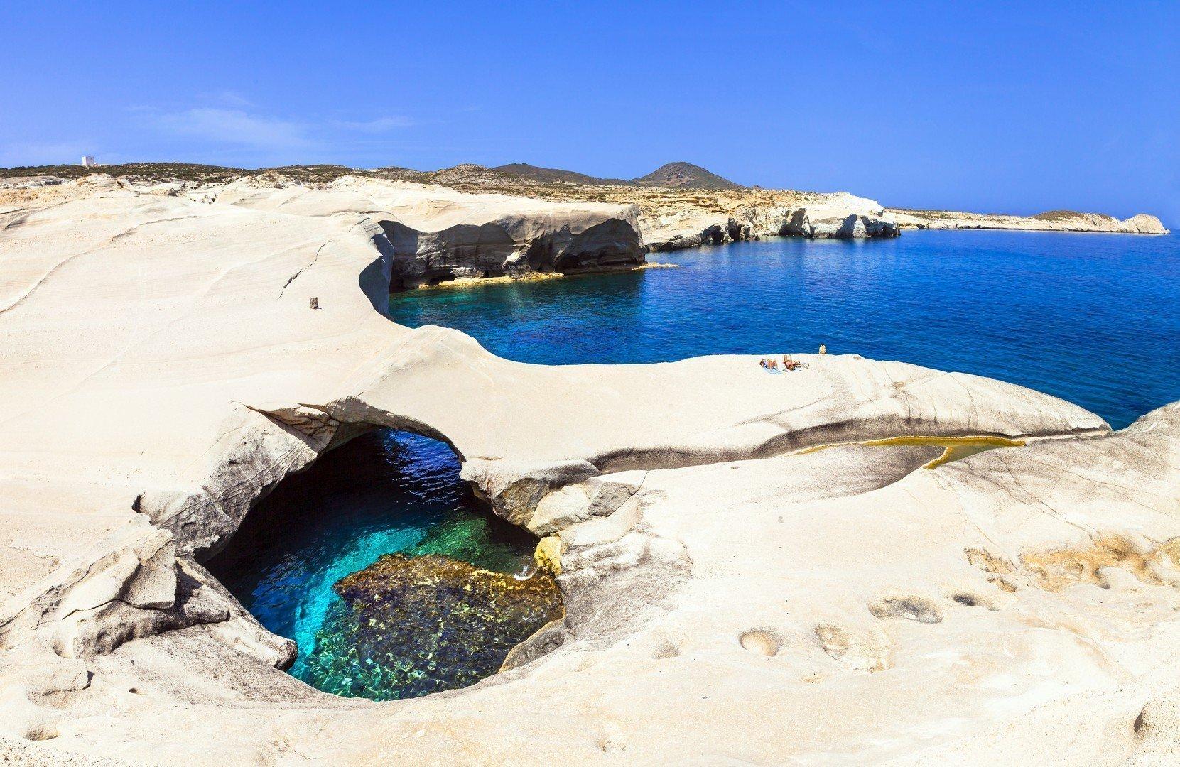 most unusual beaches of Greece - Sarakiniko on Milos island