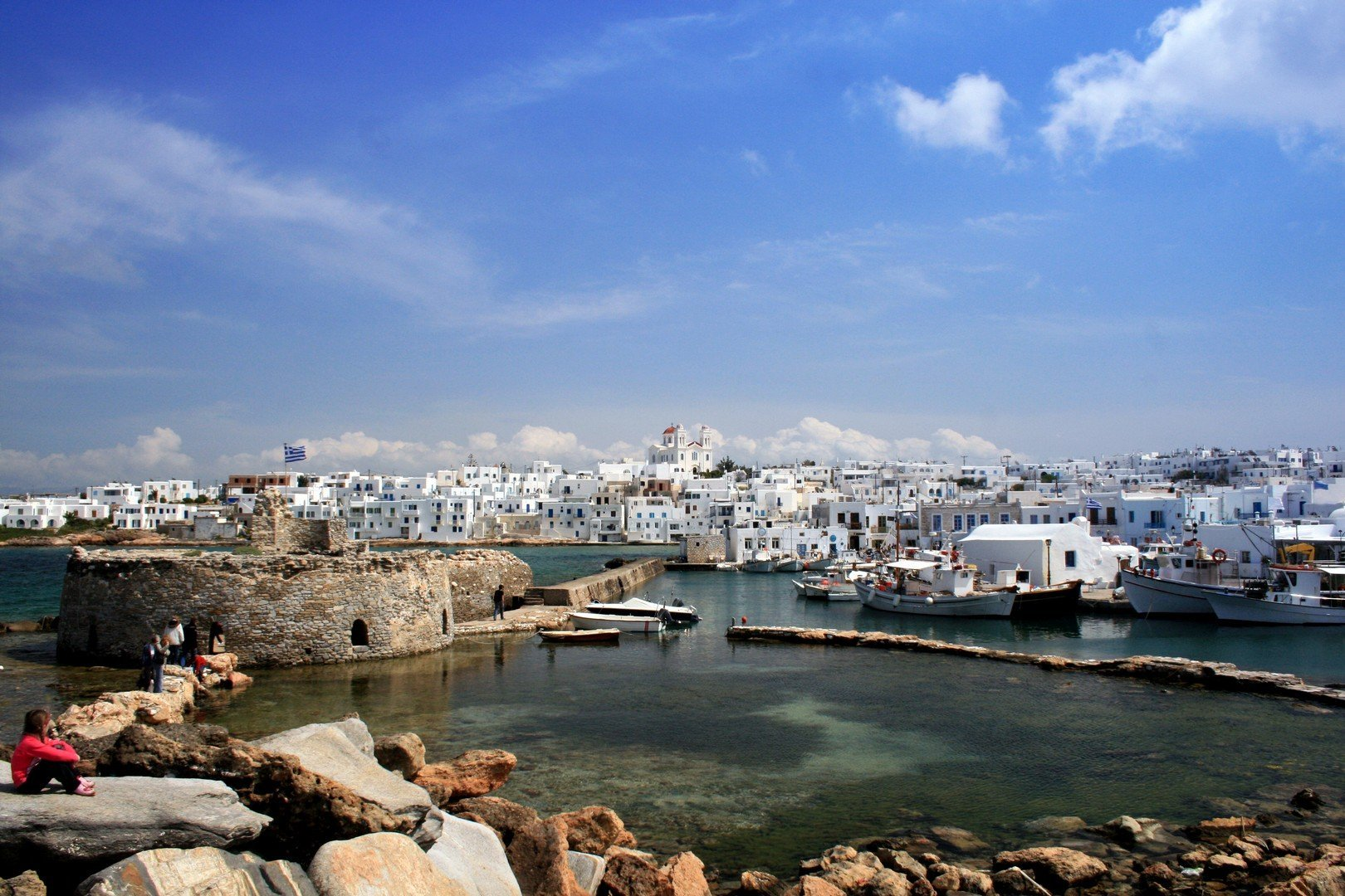 View of Naoussa from Fort. Paros, Greece