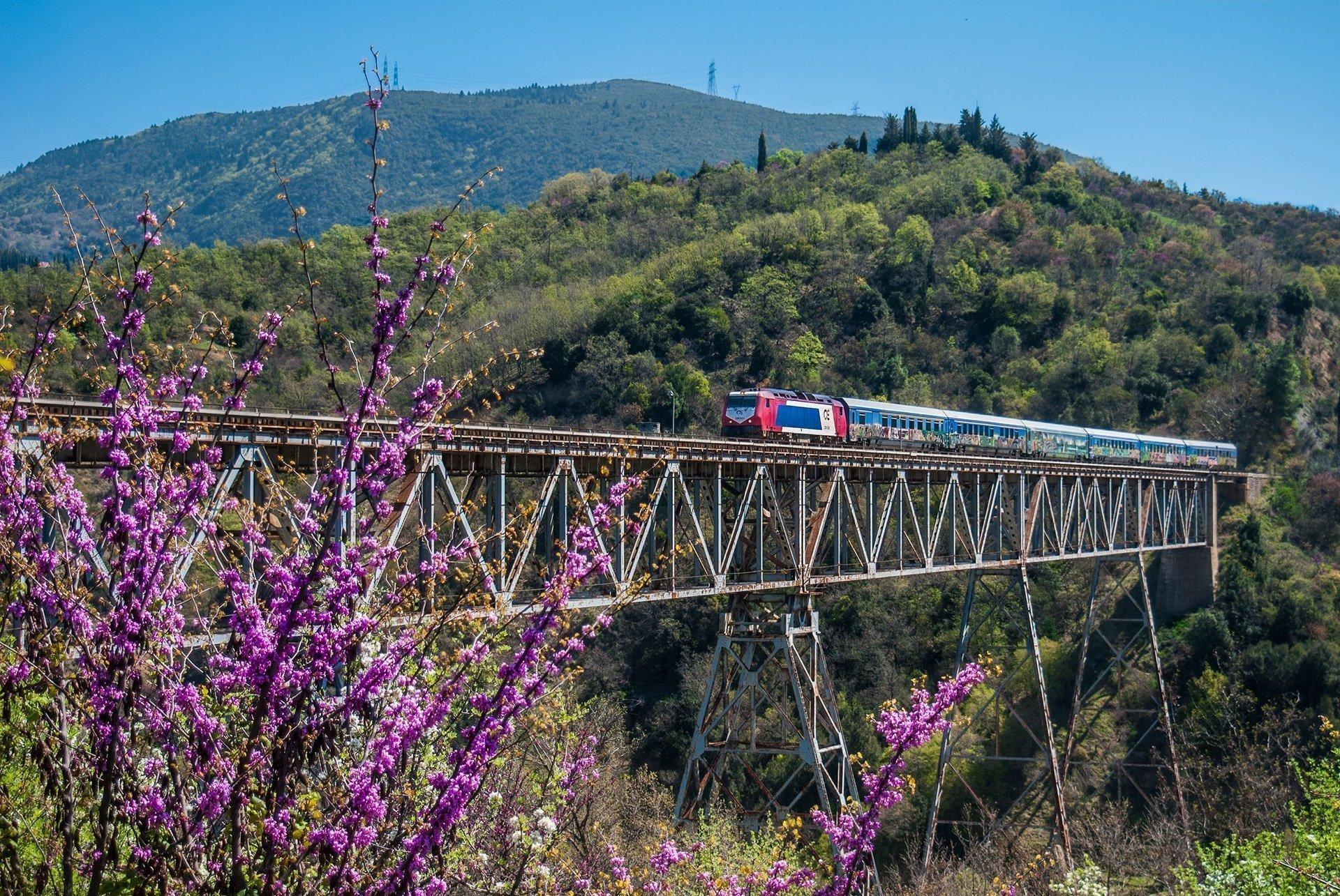Meteora, Tren, Grecia, Grecia Central