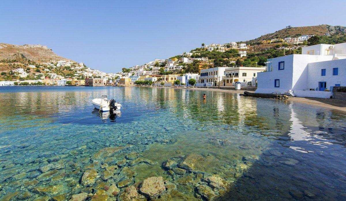 Agia Marina in Leros Island, Greece - shutterstock_442330279