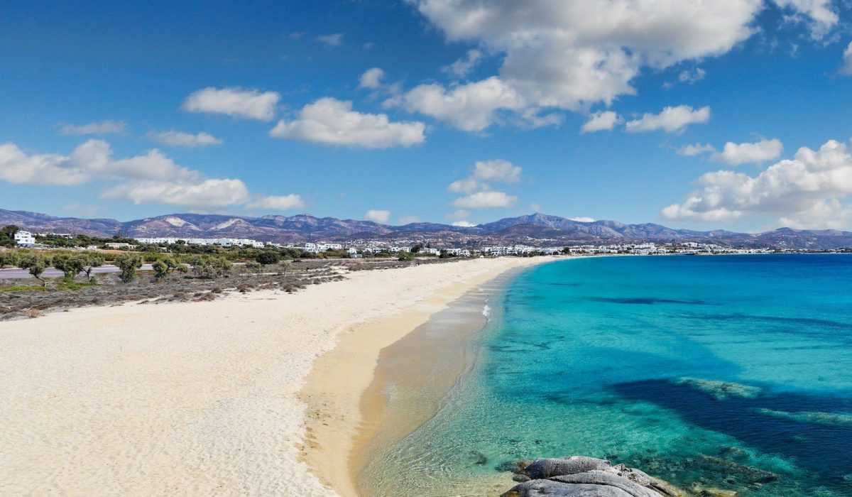 Agios Prokopios beach in Naxos island, Greece shutterstock_760987381
