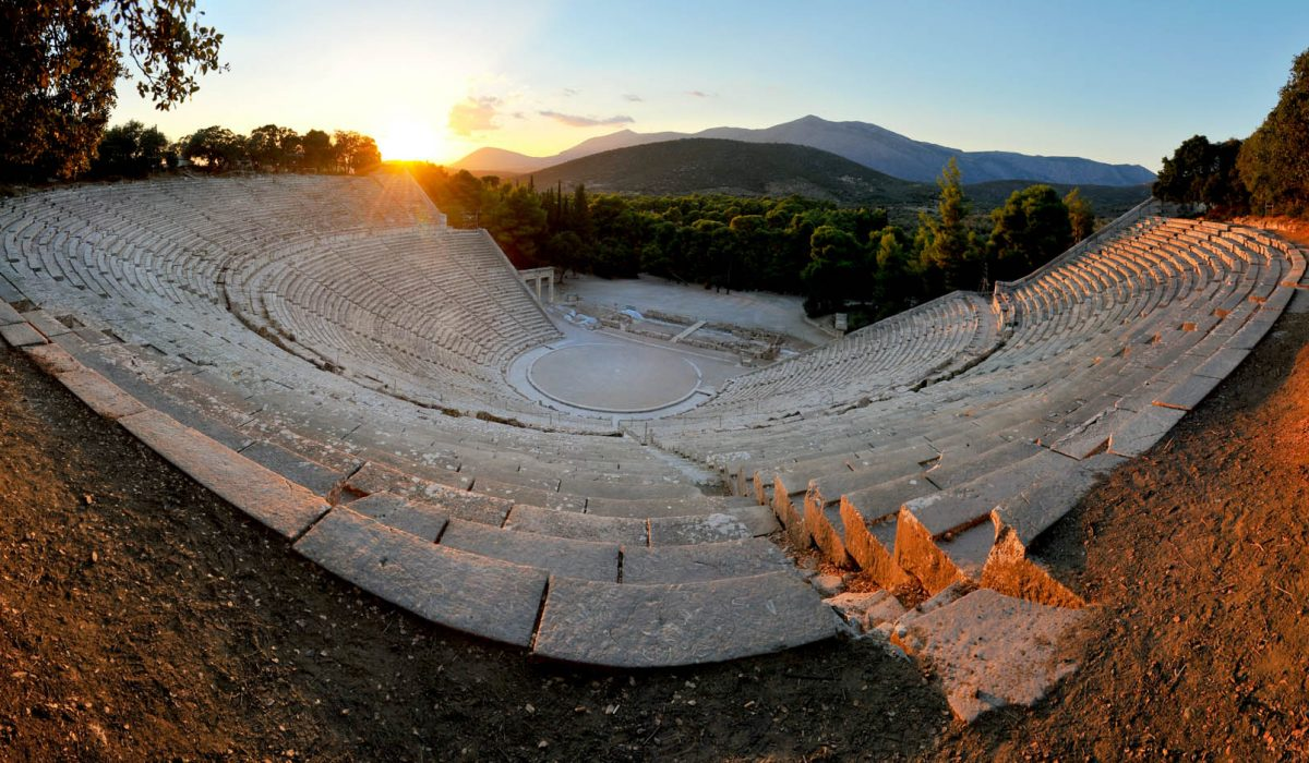 Epidaurus Theater, Peloponnese, Greece