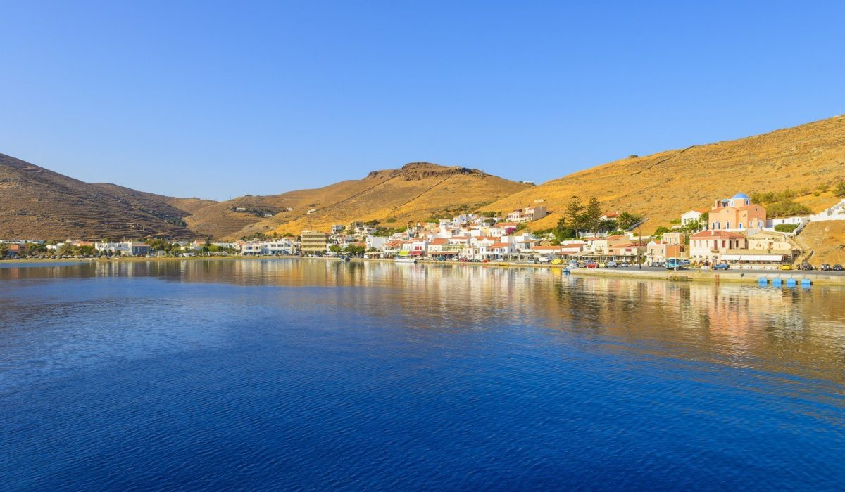 Greece Kea Island in Cyclades panoramic seascape view of sea at summer with blue sky - Imagen shutterstock_181907093