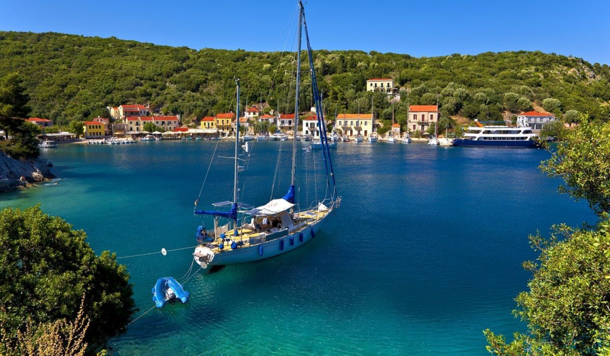 Greece. Ionian Islands - Ithaca. Lovely settlement of Frikes - Imagen shutterstock_216128227
