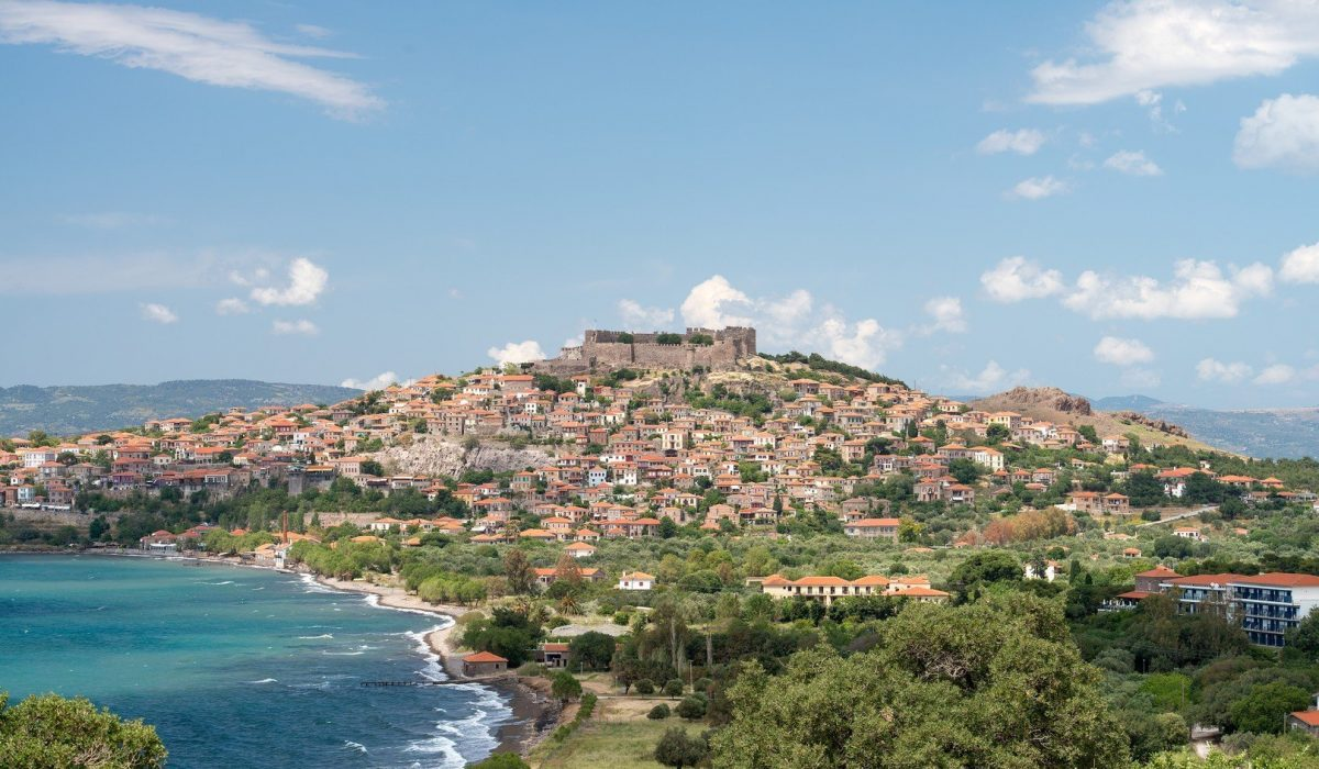 The Geek town of Molyvos built on a hillside