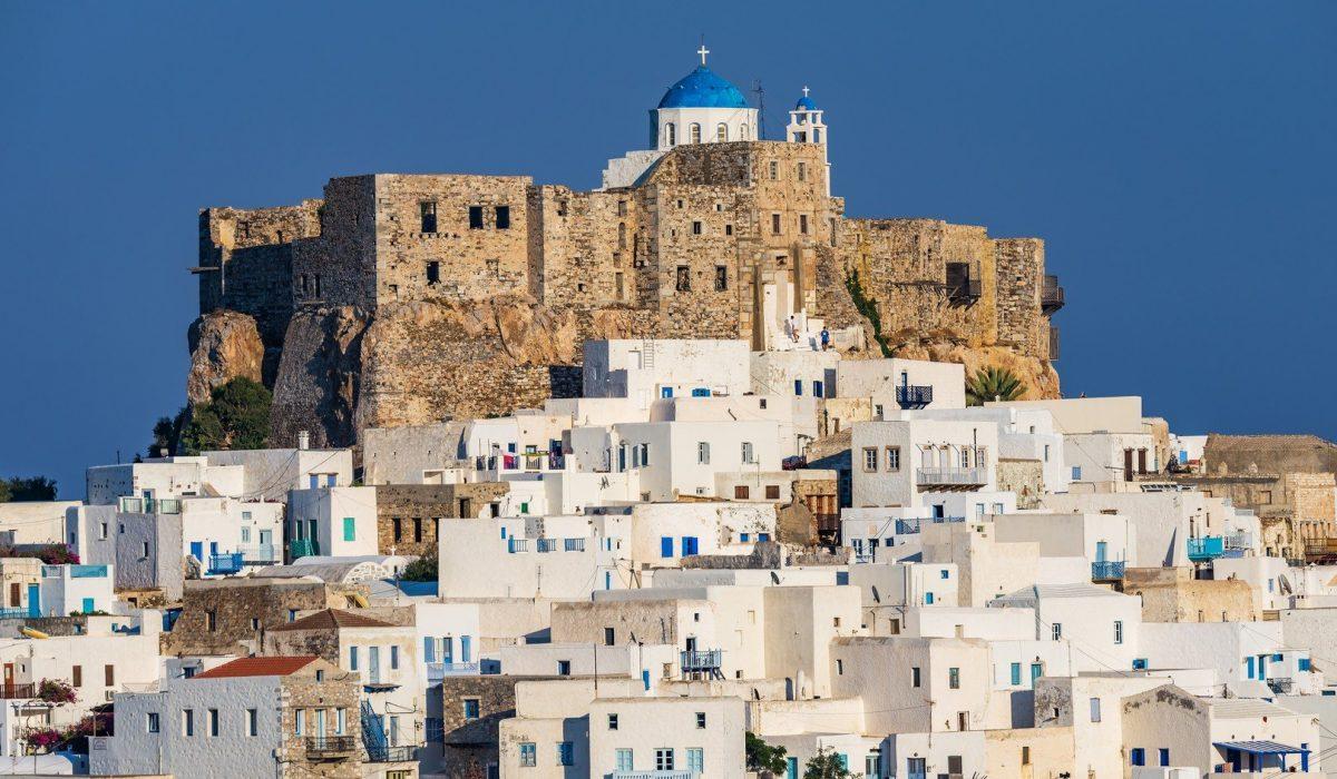 The Querini castle in Astypalaia island Greece shutterstock_414110236