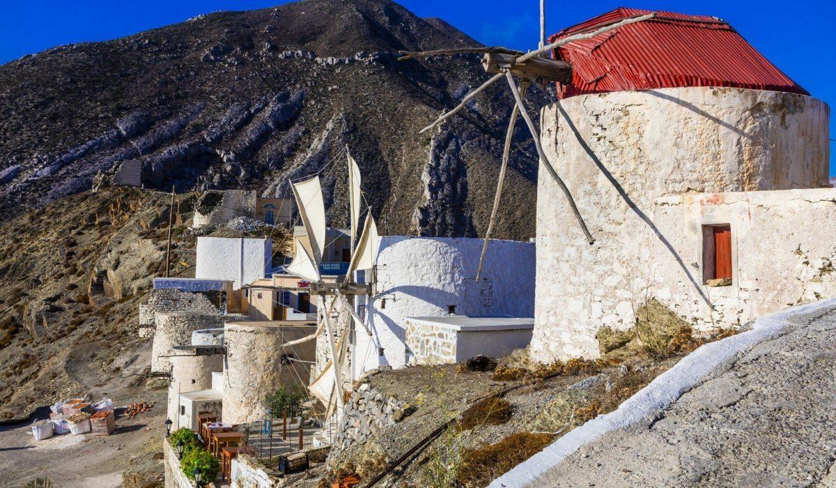 Traditional Greece - windmills of Karpathos island shutterstock_321971462